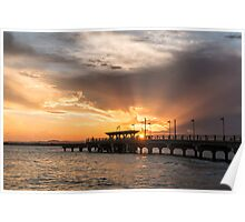 Sunset over Hays Inlet at Clontarf Poster