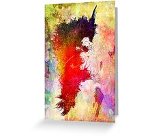 Transitory - Canvas Texture - Abstract Face Greeting Card