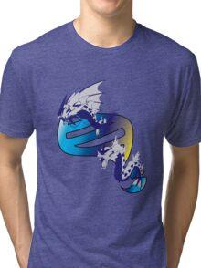 Mega Gyarados Evolution Tri-blend T-Shirt