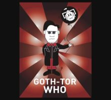 GOTH DR WHO T-SHIRT 2 by mjfouldes