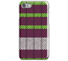 Knitted phone case purple iPhone Case/Skin
