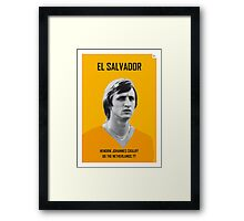 My CRUIJFF soccer legend poster Framed Print