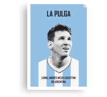 My Messi soccer legend poster Canvas Print
