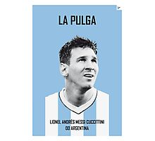 My Messi soccer legend poster Photographic Print