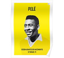 My PELE soccer legend poster Poster