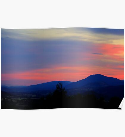 Sunset in the Valley Poster