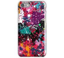 Pollock Style Paint Spatter 2 iPhone Case/Skin