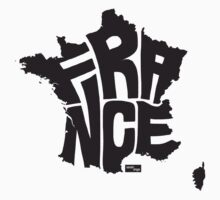 France Type Map (Black) by seanings
