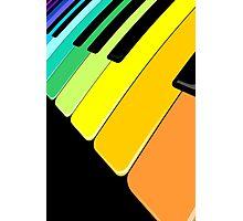 Piano Keyboard Rainbow Colors  Photographic Print