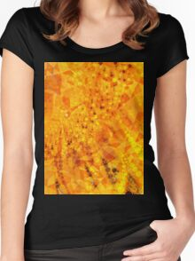 abstract sunflower Women's Fitted Scoop T-Shirt