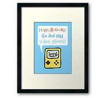 Video Game Birthday Card! Framed Print