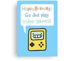 Video Game Birthday Card! Canvas Print