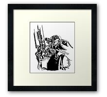 Fallout 3 Power armour Inked Framed Print
