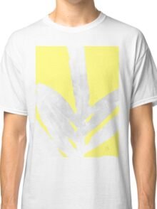 Green Fern on Lemon Yellow Inverted Classic T-Shirt