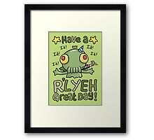 Cthulhu Birthday Card! Framed Print