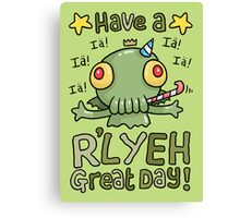 Cthulhu Birthday Card! Canvas Print