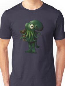H P Lovecraft Baby Cthulhu with Teddy Unisex T-Shirt