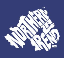 Northern Ireland Type Map (White) by seanings