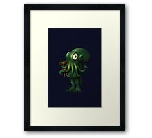 H P Lovecraft Baby Cthulhu with Teddy Framed Print