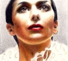 Jacqueline Pearce miniature by wu-wei