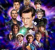 Doctor Who 50th Anniversary - All Doctors by Oliver Kidsley