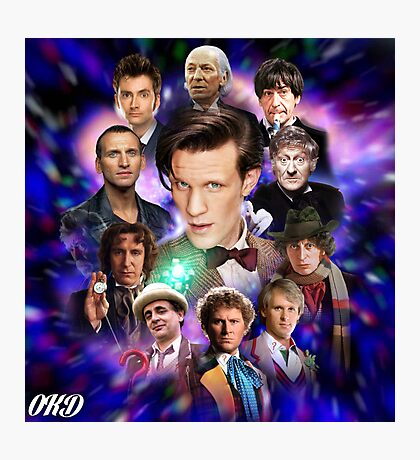 Doctor Who 50th Anniversary - All Doctors Photographic Print
