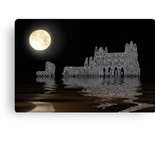 Whitby Abbey By Moonlight Canvas Print