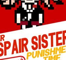 Super Despair Sisters-Danganronpa Parody Shirt Sticker