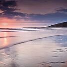 Dunraven Bay Reflection 02 by Paul Croxford