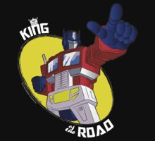 Optimus Prime - King of the Road (black tee) One Piece - Short Sleeve