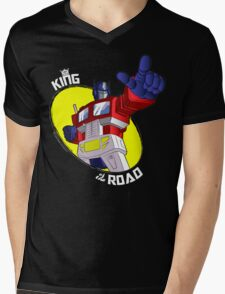 Optimus Prime - King of the Road (black tee) Mens V-Neck T-Shirt