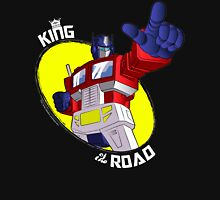 Optimus Prime - King of the Road (black tee) Unisex T-Shirt