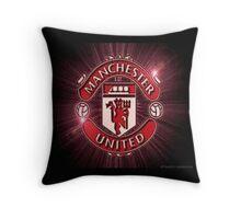 Manchester United Starburst Designer logo Throw Pillow