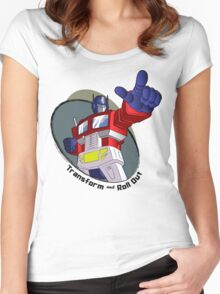 Optimus Prime - Transform and Roll Out Women's Fitted Scoop T-Shirt