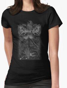 GoG shirt: Denied Sanctuary (cover artwork+logo) Womens Fitted T-Shirt
