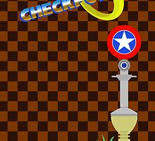 Sonic Checkpoint Print by Adam Angold