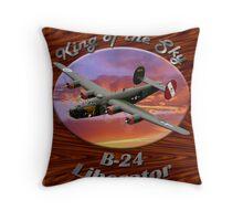 B-24 Liberator King Of The Sky Throw Pillow