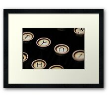 Y?  Y Not? Framed Print