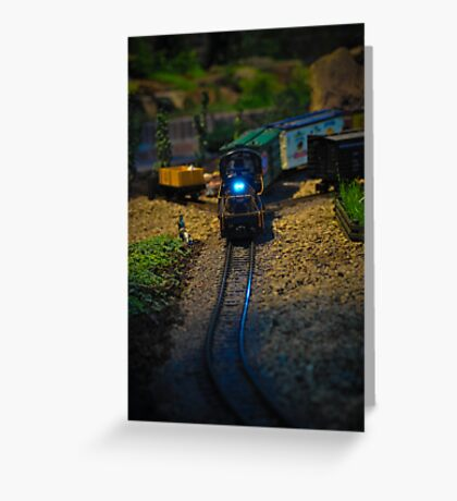 Toy Train IV ~ Miniatures Series  Greeting Card