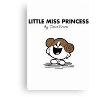 Little Miss Princess Canvas Print