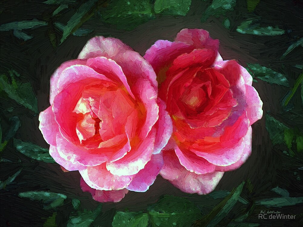 Sisters in the Spectrum of Pink by RC deWinter