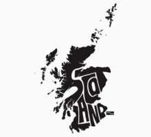 Scotland Type Map (Black) by seanings