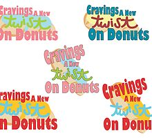 """Cravings a New Twist n Doughnuts"" Logo by Makena Lee"
