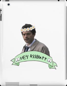 Hey Assbutt (Hipster Castiel) by melaniewoon