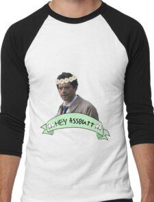 Hey Assbutt (Hipster Castiel) Men's Baseball ¾ T-Shirt
