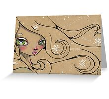 The winter wind blows Greeting Card