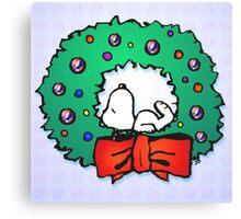 snoopy wreath Canvas Print