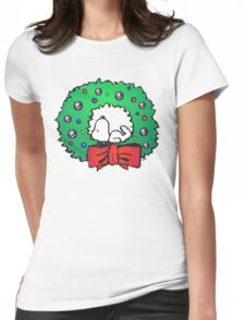 snoopy wreath Womens Fitted T-Shirt