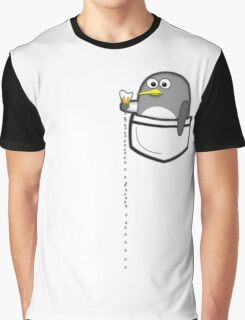 Pocket penguin enjoying ice cream Graphic T-Shirt