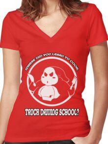 A Gourmet Shirt Women's Fitted V-Neck T-Shirt